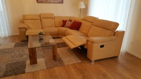 Nice leather Couch in Ramstein, Germany