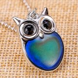 SMALL OWL MOOD NECKLACE (New) in Clarksville, Tennessee
