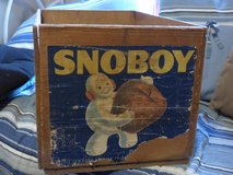 SNOBOY fruit crate in DeKalb, Illinois