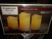 5 Sets of 3 flameless candles in Alamogordo, New Mexico