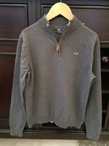 Boys Vineyard Vines Classic 1/4-Zip Sweater - Grey Size M (10-12) in Glendale Heights, Illinois