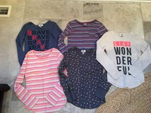 5 Waffle Knit Long Sleeve Shirts from Old Navy Size 10-12 (Like New) in Plainfield, Illinois