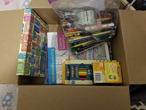 Assorted pens, pencils, coloring books in Batavia, Illinois