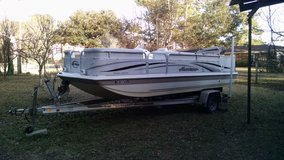 2007 Hurricane 19' Deck Boat with 140 hp Susuki 4-Stroke in Cherry Point, North Carolina