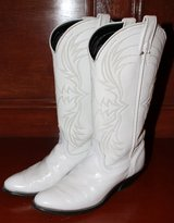 Women's White Cowboy Western Boots size 7.5 in The Woodlands, Texas