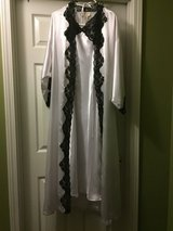 Victoria Secret White and Black Robe and Gown size medium in Eglin AFB, Florida