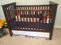 POTTERY BARN KIDS CRIB WITH INFANT/TODDLER MATTRESS in Waukegan, Illinois