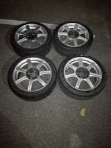 15 inch aluminum wheels/tire (set of 4) in Okinawa, Japan