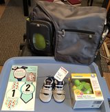 Fisher price diaper bag and extras in Fort Leonard Wood, Missouri