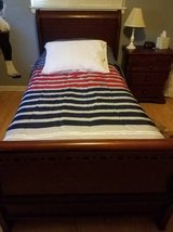 TWIN cherry sleigh bed---AWESOME MATTRESS in Baytown, Texas