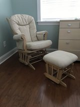 Dutalier glider w/ottoman in Wilmington, North Carolina