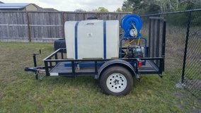 Like New 4x8 Trailer w/tank and sprayer in Baytown, Texas
