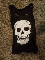 Black Skull Tank Top with Skull Cut Out on Back in Ruidoso, New Mexico