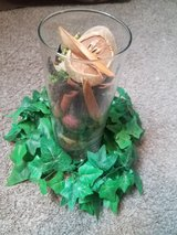 Tall Glass Vase With Potpourri and Ivy Ring in Ruidoso, New Mexico