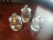 Set of 3 Glass Jars With Lids in Ruidoso, New Mexico