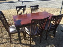 "table and 5 chairs 59x35"" 29"" tall in Fort Riley, Kansas"