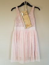 Rose dress with gold sequin clutch (S) in Fort Campbell, Kentucky