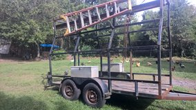 14 foot equipment trailer with ladder rack in Wilmington, North Carolina