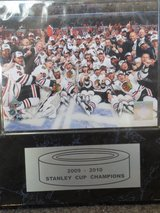 Chicago Blackhawks 2009-2010 Stanley Cup Plaque in DeKalb, Illinois