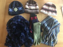Three hats, two scarves & four gloves in Byron, Georgia