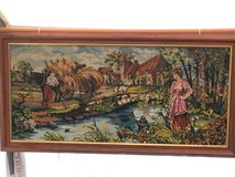 big vintage gobelin needlepoint harvest in a french country side in Ramstein, Germany