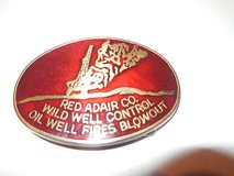 Vintage Red Adair Wild Well Control Oil Well Fires Blow Out Belt Buckle in Tomball, Texas