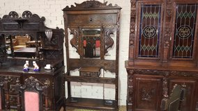 Carved Oak Green Man Hallstand Free Delivery Others Available in Lakenheath, UK