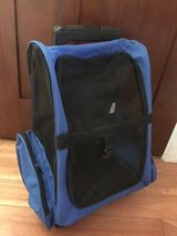 Oxgord Pet Rolling Backpack - Premium Quality Airline Approved - Blue in Glendale Heights, Illinois