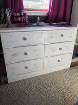 Girls cute distressed with hot pink, white dresser in Yorkville, Illinois
