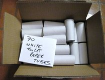 70 White Toilet Paper Rolls Cardboard Tubes for Crafts-Art-School-Church Project in Bartlett, Illinois
