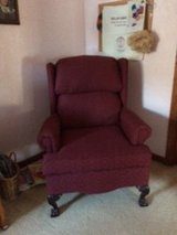 Burgandy Wingback Chair in St. Charles, Illinois