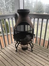Iron fire pit/chimenea in Fort Lewis, Washington