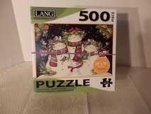 "500 pc puzzle ""Snowman Family"" in Chicago, Illinois"