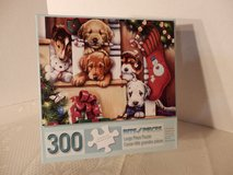 "300 large piece puzzle.  ""Christmas Puppies On The Loose"" in Chicago, Illinois"