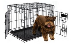 Petmate 24-Inch 2-Door Training Retreats Wire Kennel for Dogs, 25 to 30-Pound in Glendale Heights, Illinois