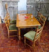 6-10 Person Oak Table with 6 Chairs in Ramstein, Germany