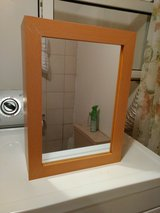 Small wooden bathroom wall shelf / medicine cabinet with Mirror in Baumholder, GE