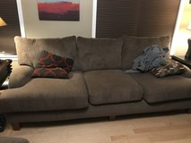 Olive green couch in Lockport, Illinois