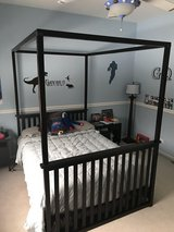 NewHaven conversion crib - toddler bed - full size canopy bed in Bartlett, Illinois