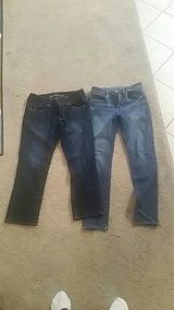 2 pair of size 6 American Eagle jeans in Warner Robins, Georgia