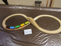 WOODEN TRAIN & TRACK SET #3 in Chicago, Illinois