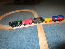 WOODEN TRAIN & TRACK SET #6 in Chicago, Illinois