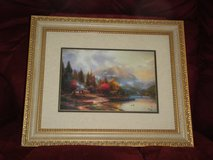 """Framed Thomas Kincaid print """"The End of a Perfect Day III"""" in Fort Rucker, Alabama"""
