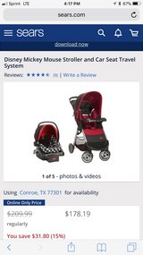 Mickey Mouse Car Seat & Stroller Travel System in Conroe, Texas