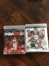 PS3 NBA2K16 and NHL14 games in Houston, Texas