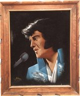 Elvis painting in Fort Campbell, Kentucky