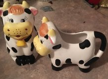 Cow sugar bowl and creamer set in Fort Campbell, Kentucky