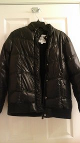 Girls Size 16 Justice Winter Black Jacket in Glendale Heights, Illinois