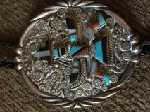 3 Southwestern Zuni/ Navaho made Bolo Ties Silver, turquoise, other stones , beautiful in excell... in Olympia, Washington