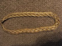 Braided gold chain necklace in Olympia, Washington